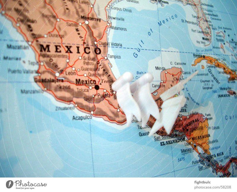 Mexiko von oben Meer Erde Landkarte Weltkarte