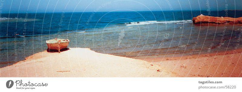Sharm El Naga - Ägypten - Rotes Meer Nagas rot Strand Wasserfahrzeug Meerwasser tauchen Hurghada Sonne Korallen Riff Korallenriff Umweltschutz Sommer Physik