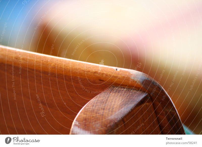 Sitzbank ruhig Ernährung Farbe Erholung Holz braun sitzen Tisch Bank Stuhl Balkon gemütlich Sitzgelegenheit Verlauf bequem