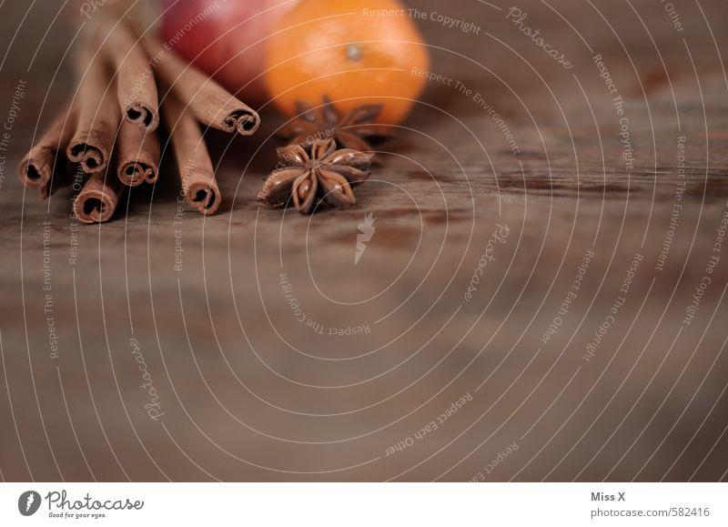 Wintergewürze Weihnachten & Advent Gesundheit Holz Lebensmittel Frucht Ernährung Kochen & Garen & Backen Kräuter & Gewürze lecker Apfel Duft Baumrinde Holztisch