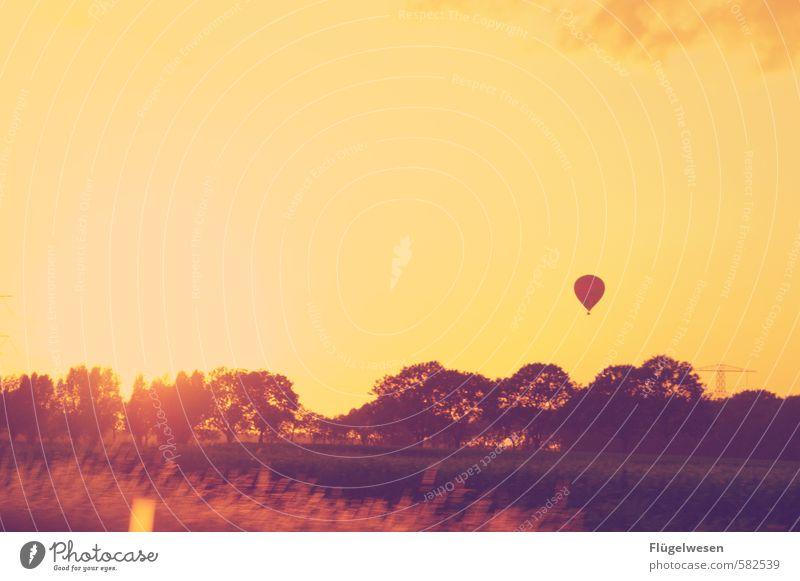 grenzenlos sein Ferien & Urlaub & Reisen Tourismus Ausflug Abenteuer Ferne Freiheit fliegen Luftverkehr fliegend Ballone Luftballon Ballonfahrt Ballonkorb