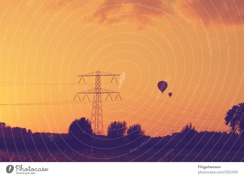 Wolken Ferien & Urlaub & Reisen Sommer Ferne Freiheit fliegen Fliege Tourismus Luftverkehr Ausflug Elektrizität Abenteuer Luftballon Schweben Abheben Ballone