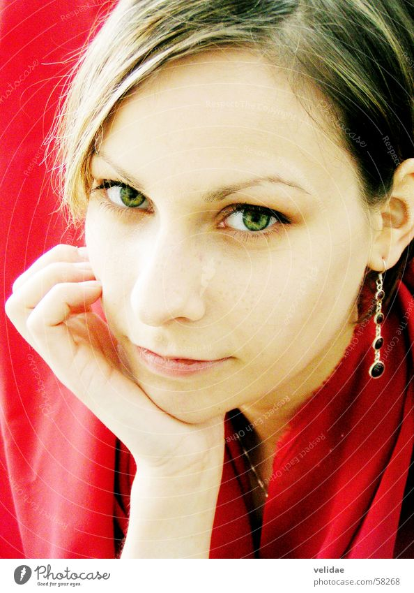 Green Eyes Gesicht Auge Frau Tuch Junge Frau