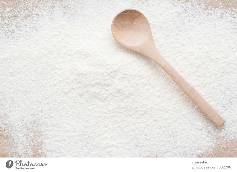 weiß Farbe natürlich braun Design Dekoration & Verzierung frisch Küche Brot Schalen & Schüsseln Werkzeug Zucker Oberfläche Weizen Haufen Pizza