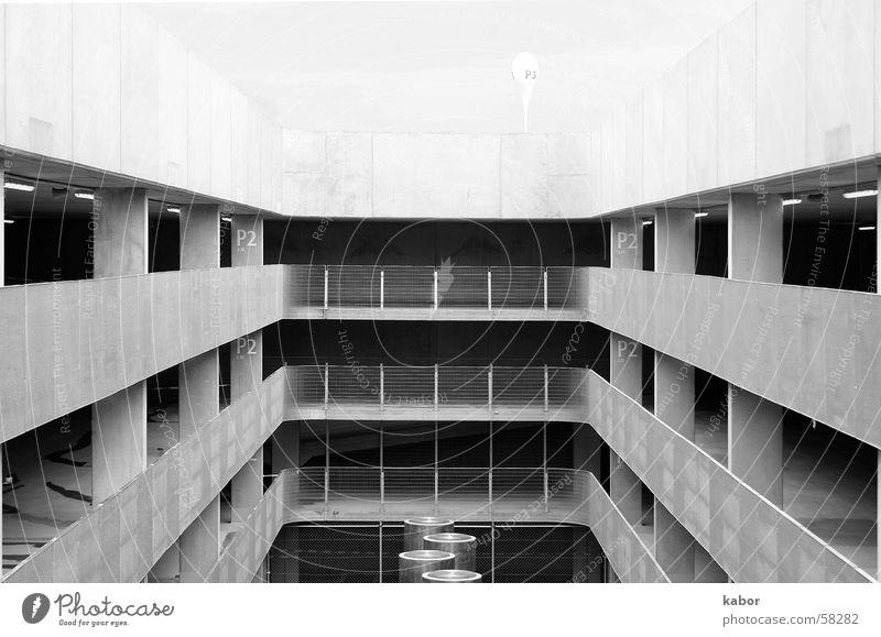 Parkhaus gebaude Schwarzweißfoto Architektur