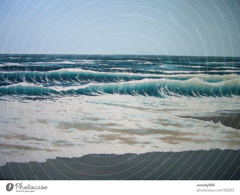 Sylt-Strand Meer See Herbst Brandung Horizont Wasser Ferne Sand