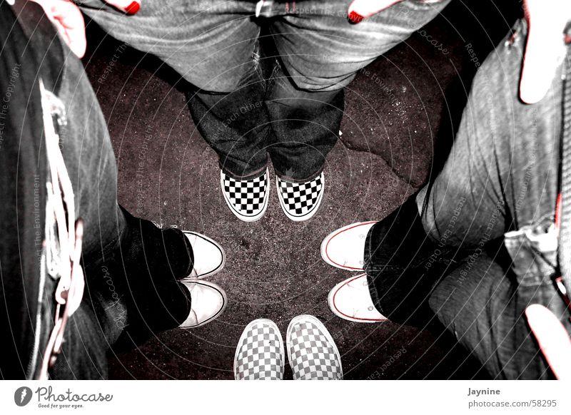 rockstarshoes weiß schwarz Schuhe Chucks Lieferwagen