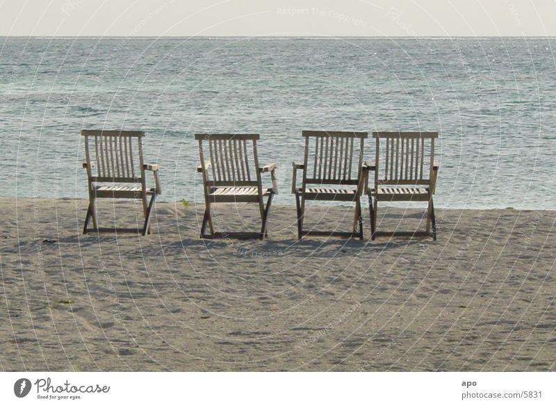 ...alle weg Strand Ferien & Urlaub & Reisen Meer Stuhl Sonne
