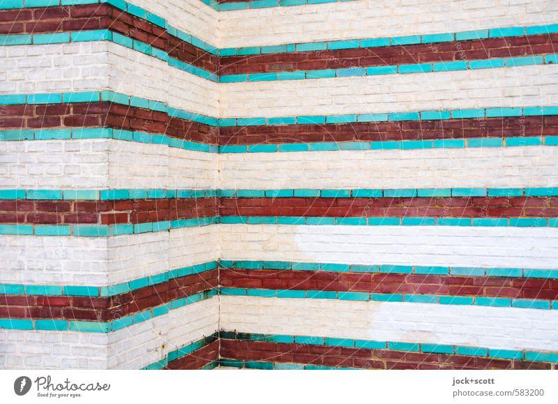 maurische Art Kunstwerk Architektur Kultur Maurisch Potsdam Wand Ecke Backstein Streifen historisch ästhetisch elegant exotisch Kreativität Qualität Reichtum