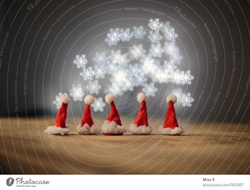 Zipfelkinder Weihnachten & Advent Schnee lustig klein Feste & Feiern Menschengruppe Freundschaft Schneefall Familie & Verwandtschaft leuchten