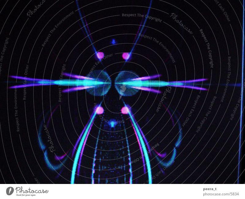 screen_nott006 schön ästhetisch Grafik u. Illustration Symmetrie graphisch Fluchtpunkt Fluchtlinie Bildschirmschoner Lichtdesign Vor dunklem Hintergrund