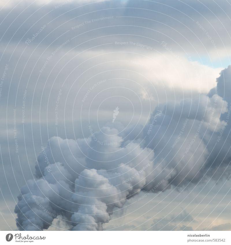 $ $ Himmel Stadt weiß Wolken schwarz dunkel Umwelt grau Angst dreckig Nebel Energiewirtschaft gefährlich Zukunft bedrohlich