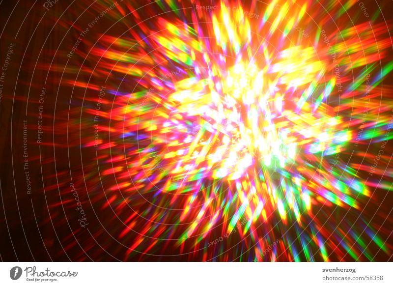 Flash Light mehrfarbig gelb grün rot Licht Hintergrundbild blau