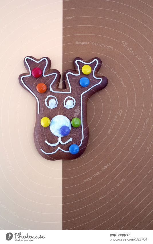 (w)elch leckeres gebäck Weihnachten & Advent Tier Gesicht Essen Feste & Feiern braun Lebensmittel Ernährung Süßwaren Kuchen Bonbon Backwaren Teigwaren Ornament Elch Weihnachtsgebäck
