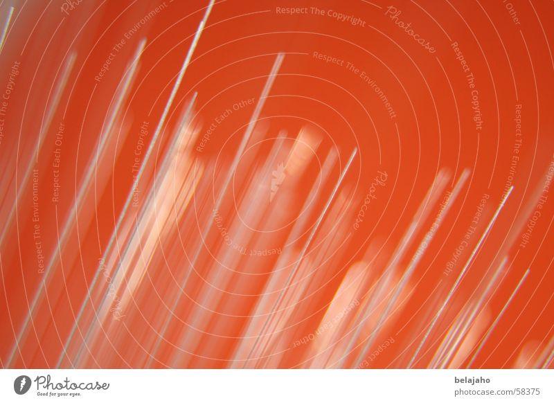 Glasfaser Lampe orange retro dünn Spitze diagonal Stachel stachelig gerade schmal filigran Achtziger Jahre Glasfaserlampe Leuchtstab Fiberglas