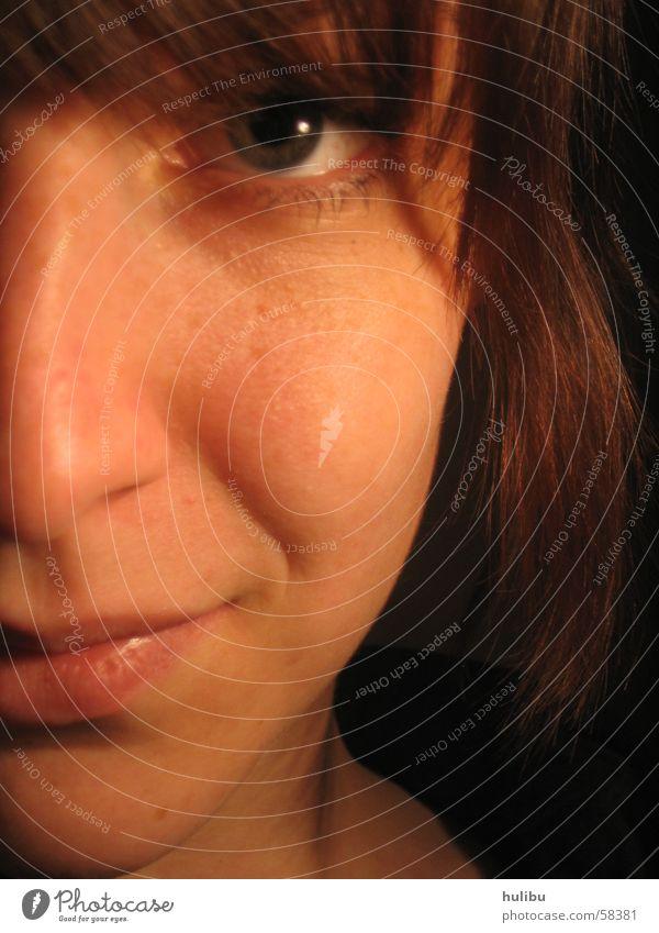 schau mich nicht so an! Frau Mädchen Gesicht Auge lachen Haare & Frisuren Mund Nase Lippen Wange Wimpern Pony