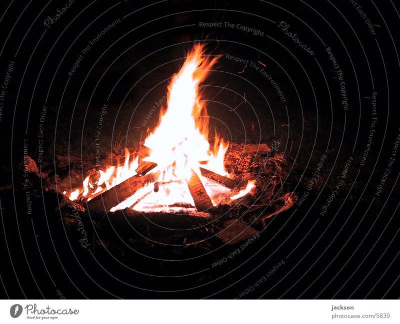 Lagerfeuer Nacht Stimmung Brand Natur