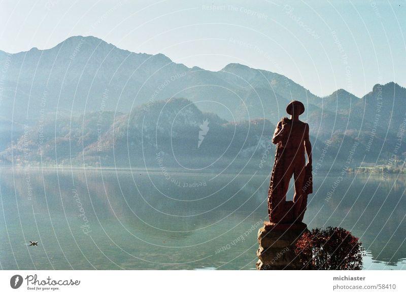 Ausblick Wasser Berge u. Gebirge Stein See wandern Aussicht Alpen Idylle Bayern Kochelsee
