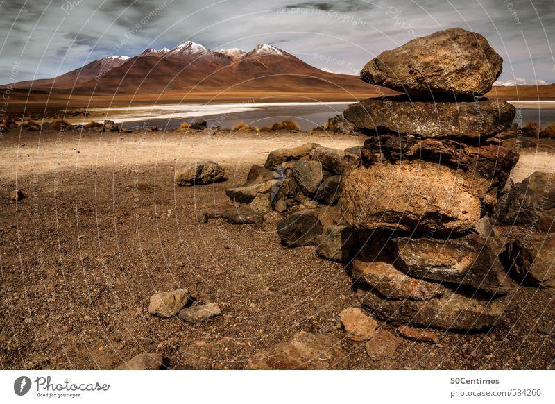 Im Gebirge von Bolivien Natur Ferien & Urlaub & Reisen Erholung Landschaft ruhig Ferne Berge u. Gebirge Freiheit See Sand Felsen Erde Tourismus Wind wandern