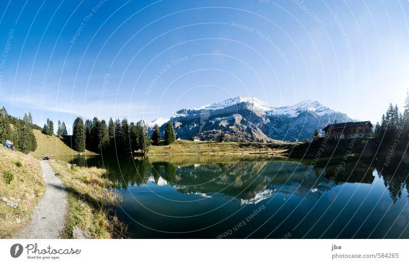 Lac Retaud Wohlgefühl Zufriedenheit Erholung ruhig Ausflug Sommer Berge u. Gebirge wandern Natur Landschaft Wasser Herbst Schönes Wetter Felsen Alpen Gipfel