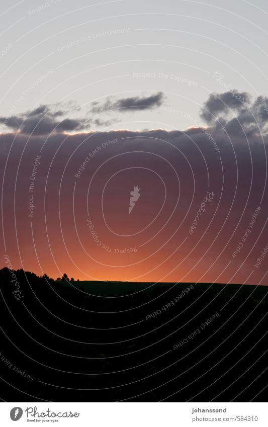 Glühender Horizont Himmel Natur Landschaft Wolken dunkel Horizont Zukunft Hoffnung Hügel Ende