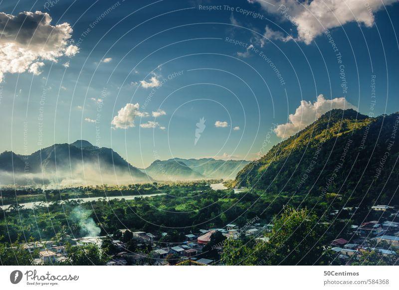 Dschungel, Amazonas in Peru - Pucalpa, Tingo Maria Natur Ferien & Urlaub & Reisen blau grün Pflanze Sommer Landschaft Wolken Tier Ferne Umwelt Freiheit Erde