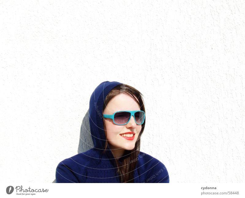 Sunglases everywhere XII Frau Mensch Gesicht Stil lachen Haare & Frisuren Haut glänzend Lippen geheimnisvoll Reihe Brille Kosmetik Gesichtsausdruck Sonnenbrille