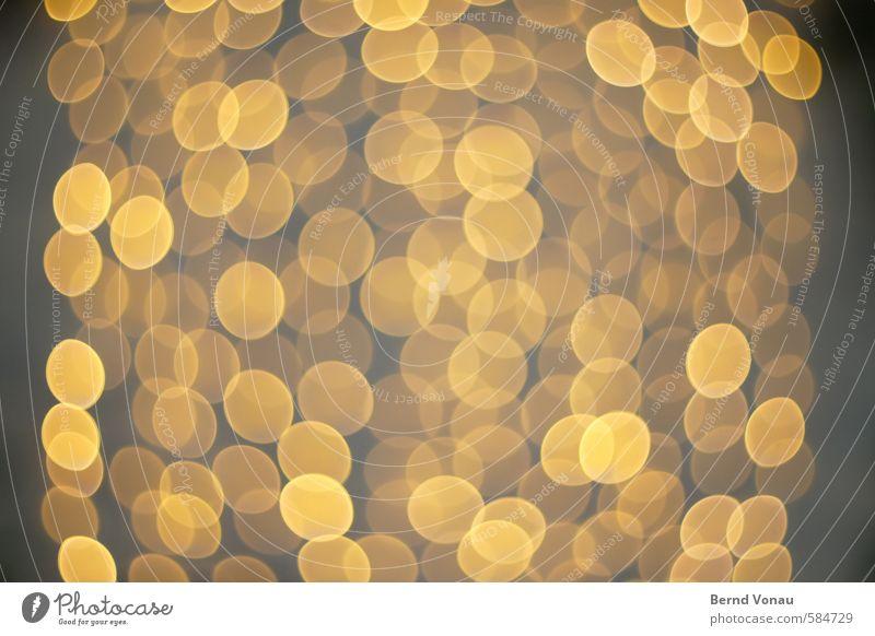 LichterMehr! gelb grau Lampe orange gold Kreis rund Stadtzentrum Schweben durchsichtig verträumt Siebziger Jahre Weihnachtsdekoration überlagert