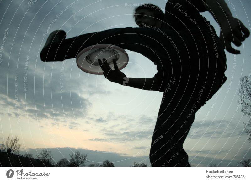 let´s jam Himmel Sommer Spielen Statue Fensterscheibe Freestyle Frisbee