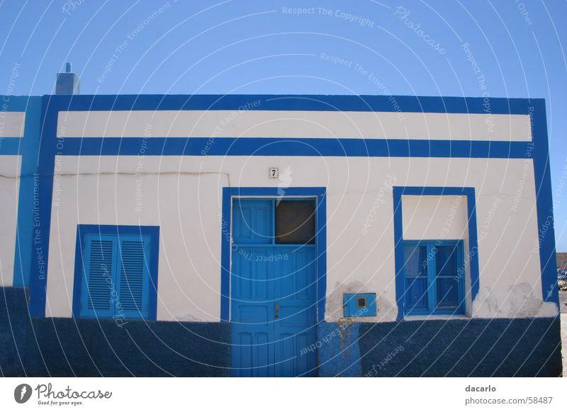 Blau in Blau blau Haus Griechenland Mittelmeer