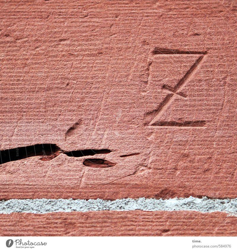 !Trash! | Insel mit dunkler Wolke und Branding Haus Mauer Wand Putz Einschluss Kratzspur Stein Zeichen Schriftzeichen Ornament eckig kaputt stachelig trashig