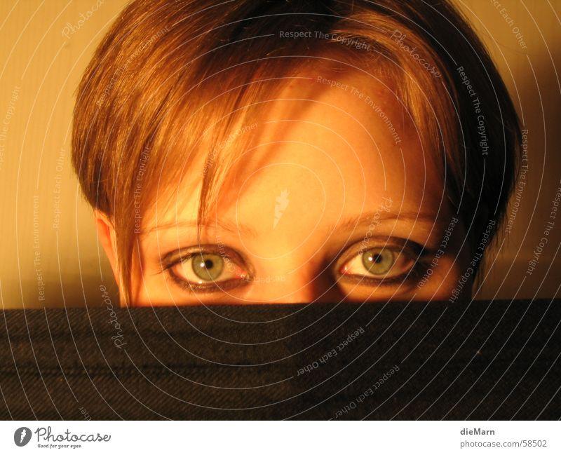 blick in.... geschminkt verdeckt Auge Haare & Frisuren Tuch Kopf Gesicht Blick