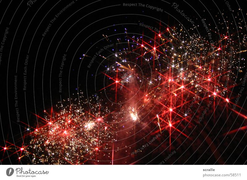 Sternengalaxy über Dresden Feste & Feiern Brand Stern (Symbol) Galaxie Silvester u. Neujahr Feuerwerk Brauerei Milchstrasse Feldschlößchen Aktiengesellschaft