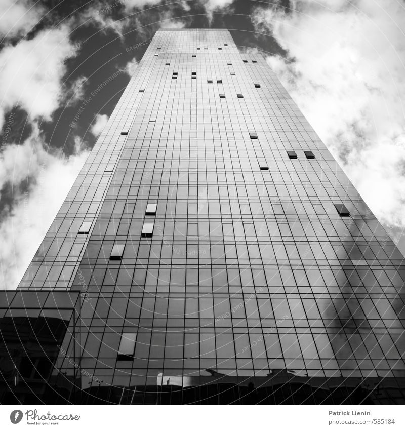 No Limits Stadt Wolken Fenster Gebäude Architektur außergewöhnlich Hochhaus modern hoch ästhetisch Energie Unendlichkeit USA Bauwerk Stadtzentrum eckig