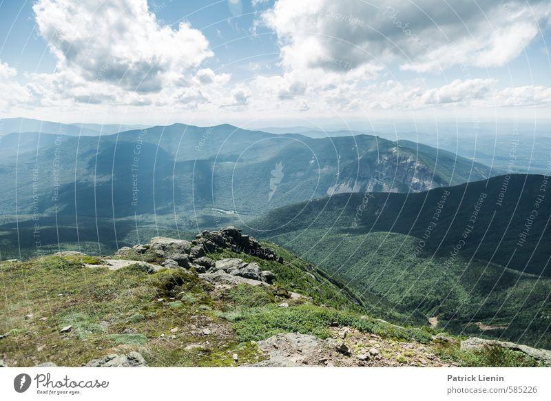 Mount Lafayette Himmel Natur Ferien & Urlaub & Reisen Pflanze Sommer Sonne Landschaft Wolken Ferne Wald Berge u. Gebirge Umwelt Freiheit Felsen Tourismus Wetter