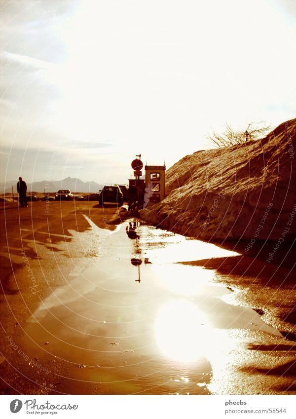 Es Wird Nirgendwo So Sein Wie Am Gaisberg Mensch Himmel Wasser weiß Sonne Winter Wolken Straße Schnee Berge u. Gebirge oben PKW orange braun Heidelberg