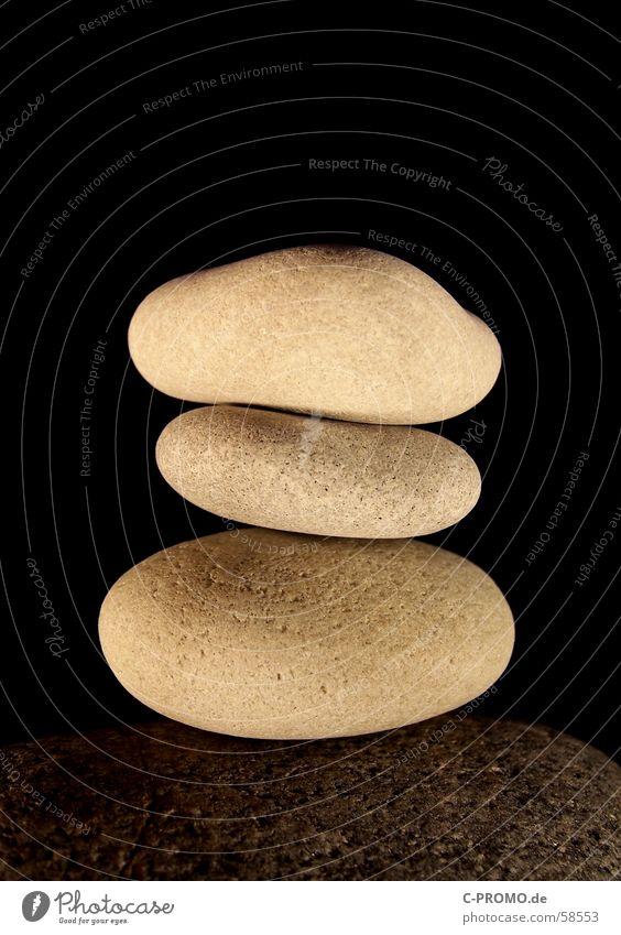 Naturlego II weiß schwarz Erholung kalt Stein Zufriedenheit Zusammensein Felsen Konzentration Buddhismus hart Zen Mineralien