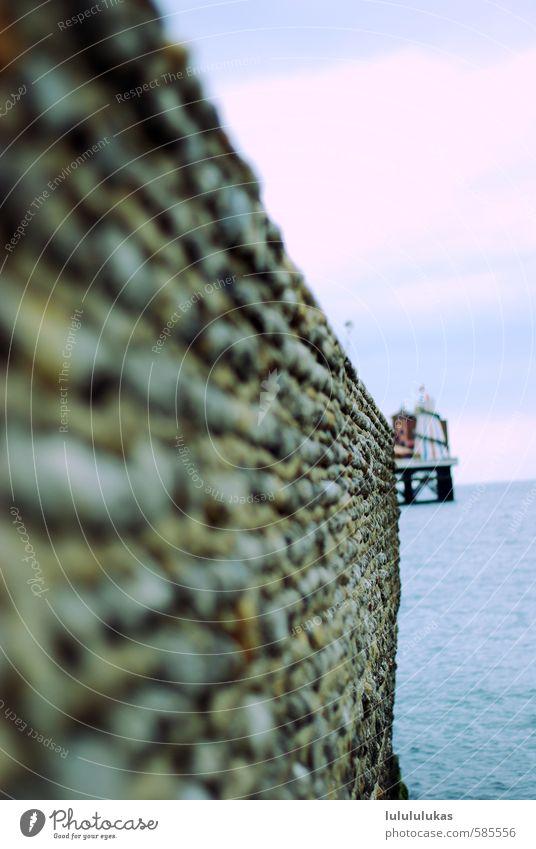 das ist eine mauer. Natur blau weiß Wasser Sommer Meer Landschaft Ferne Leben Glück Stein Tourismus Europa Schönes Wetter frisch Ausflug