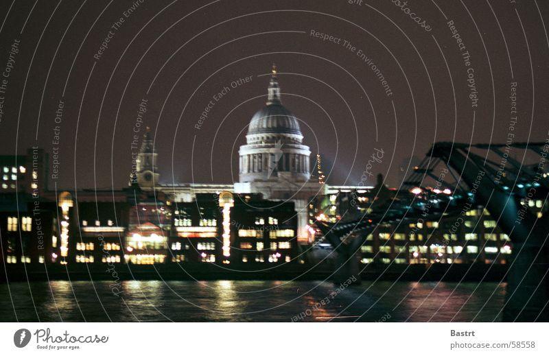 When The Sun Goes Down London Lampe Götter Religion & Glaube Licht Nacht dunkel gehen überbrücken Hängebrücke England Englisch Großbritannien st.pauls cathedral
