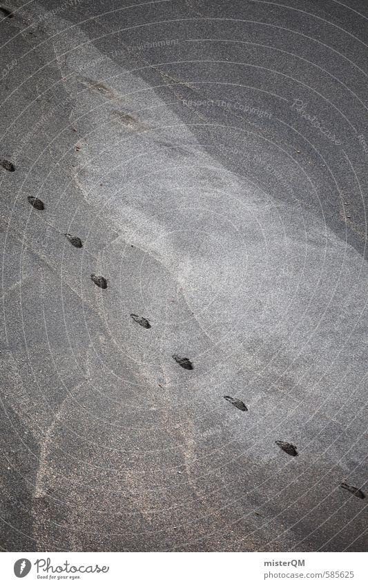 I.love.FV XXXVI Kunst ästhetisch Zufriedenheit ruhig Fußspur Uhr Sand Strand Strandspaziergang Erholungsgebiet erholsam Wellness Ferien & Urlaub & Reisen