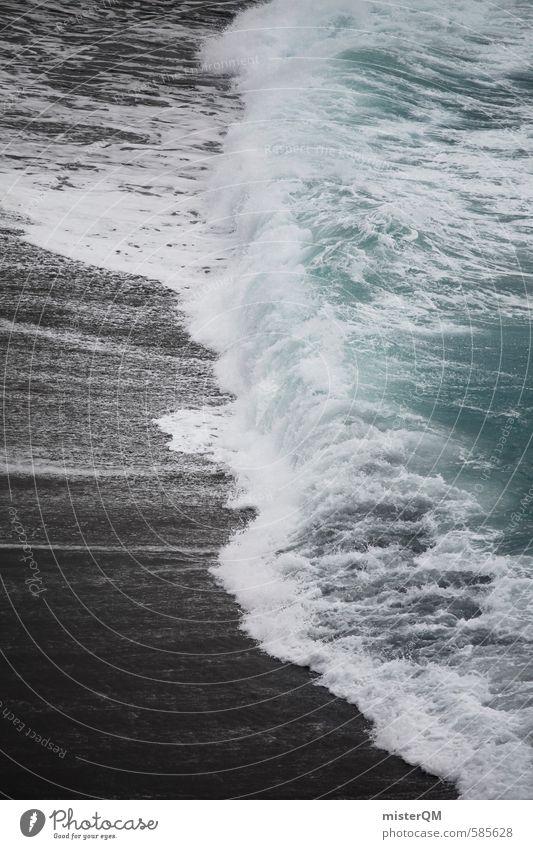 I.love.FV XXXV Umwelt Natur Urelemente Wasser schlechtes Wetter ästhetisch Wellen Küste Meerwasser Brandung schwarz Dynamik Bewegungsenergie blau Schaum Gischt