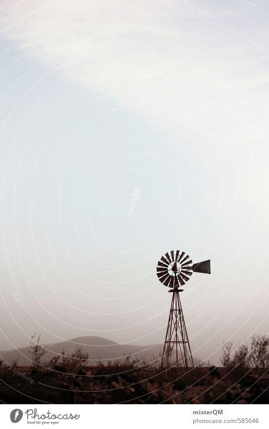 I.love.FV XLII alt gehen Kunst ästhetisch Wüste Amerika Windrad Western old-school Westernstadt