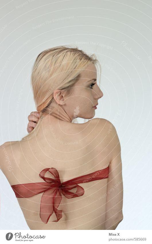 missx-mas Mensch Jugendliche Weihnachten & Advent schön nackt Junge Frau 18-30 Jahre Erwachsene Erotik Liebe Gefühle feminin Stimmung blond Rücken Geburtstag