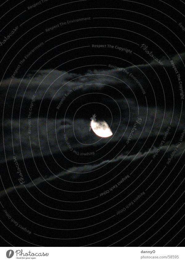 Mond Nacht Wolken hell & dunkel