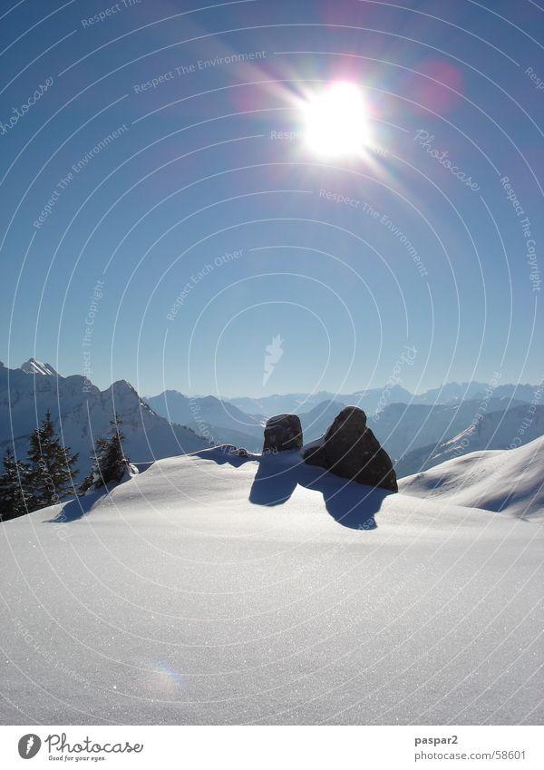 damülzsonne weiß Luft Schweiz Österreich Ferien & Urlaub & Reisen schön Sonne Schnee Berge u. Gebirge frei Landschaft
