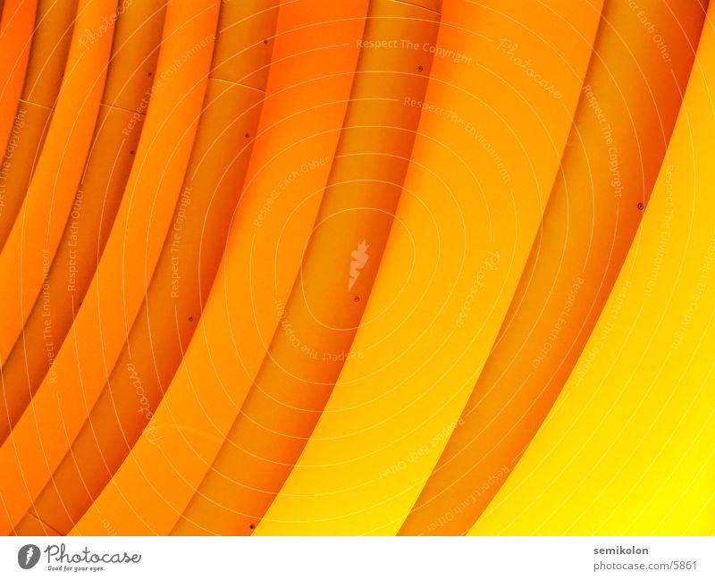 orange wave gelb Streifen Wand rund Wellen Muster Fototechnik