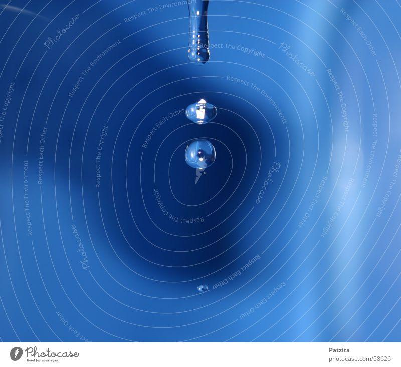 Tropf Tropf Wasser blau Wassertropfen