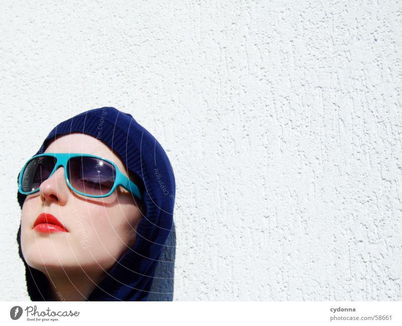 Sunglases everywhere XIV Lippen Lippenstift Licht Stil Reihe Frau Porträt glänzend Kosmetik Sonnenbrille gestikulieren Haut session Mensch Gesicht face