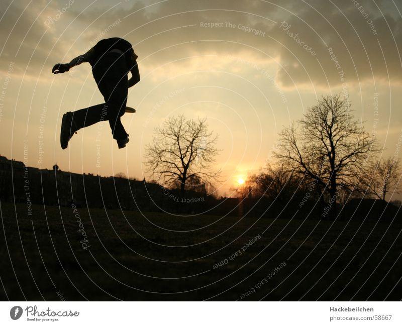 plastikartisten... Sonne Frühling Sport Stimmung springen Statue Fensterscheibe Artist Freestyle jonglieren Frisbee Air