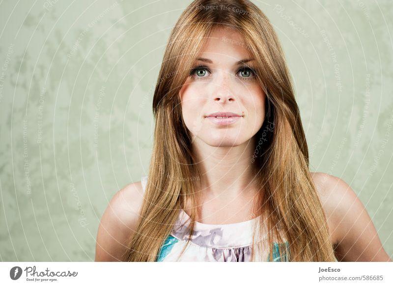 #586685 Frau Erwachsene Gesicht 18-30 Jahre Jugendliche brünett langhaarig beobachten Erholung Kommunizieren träumen Freundlichkeit Fröhlichkeit frisch